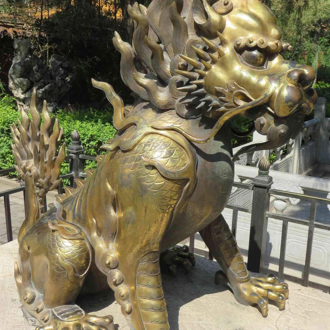 Imperial Garden Qilin Statue (Beijing, China)