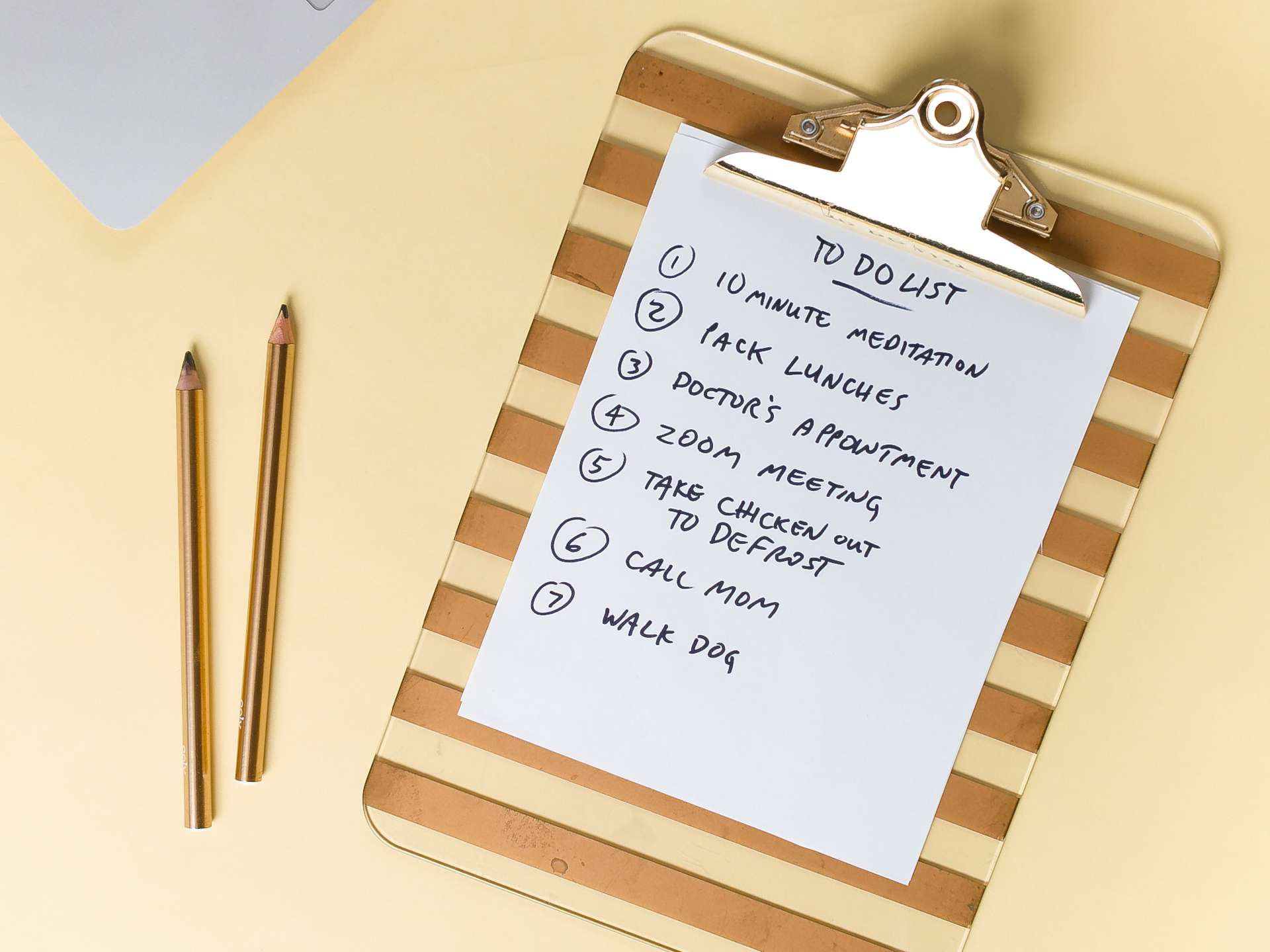 making a to do list