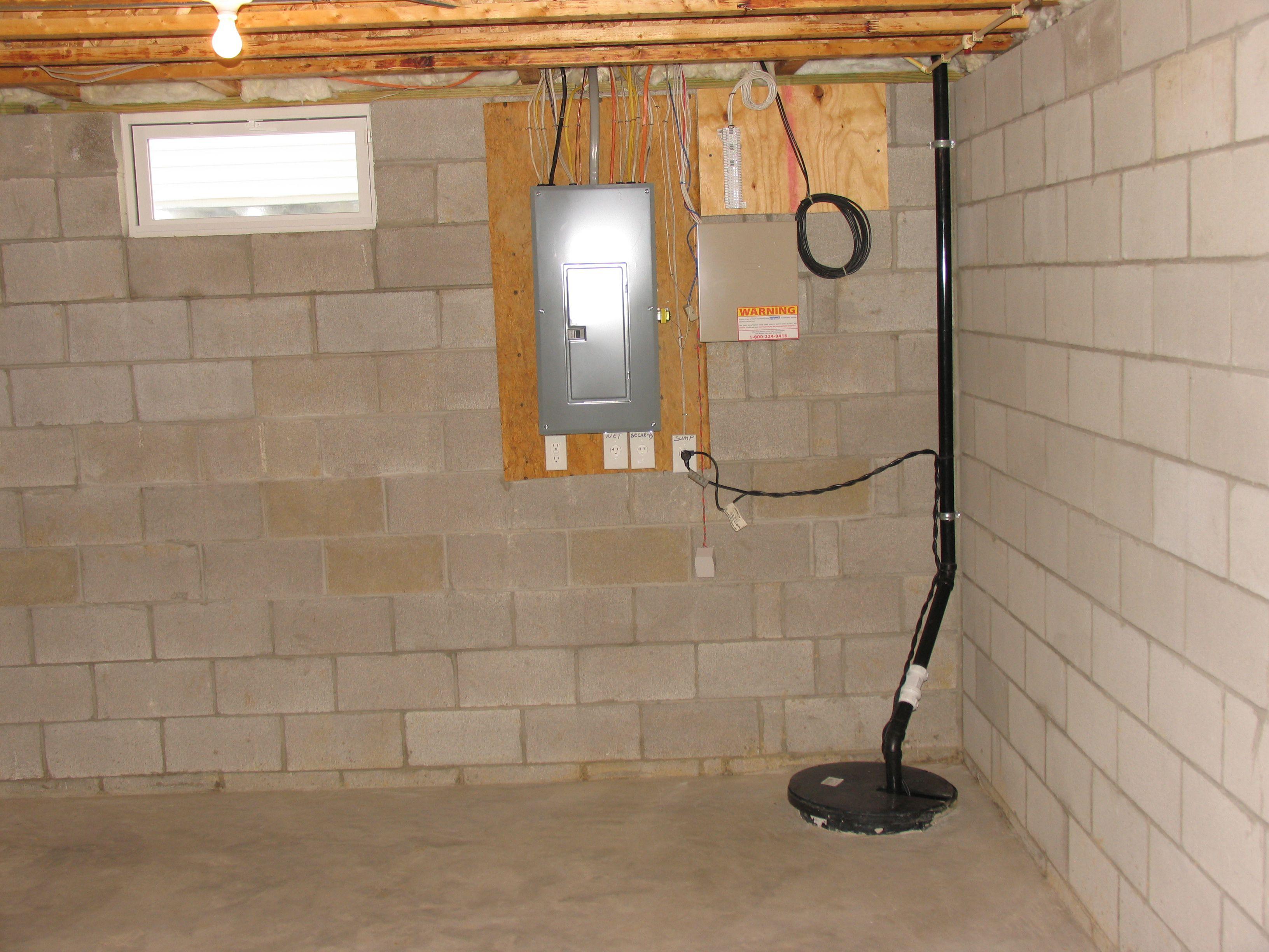 Elegant Water Pump Basement Floor