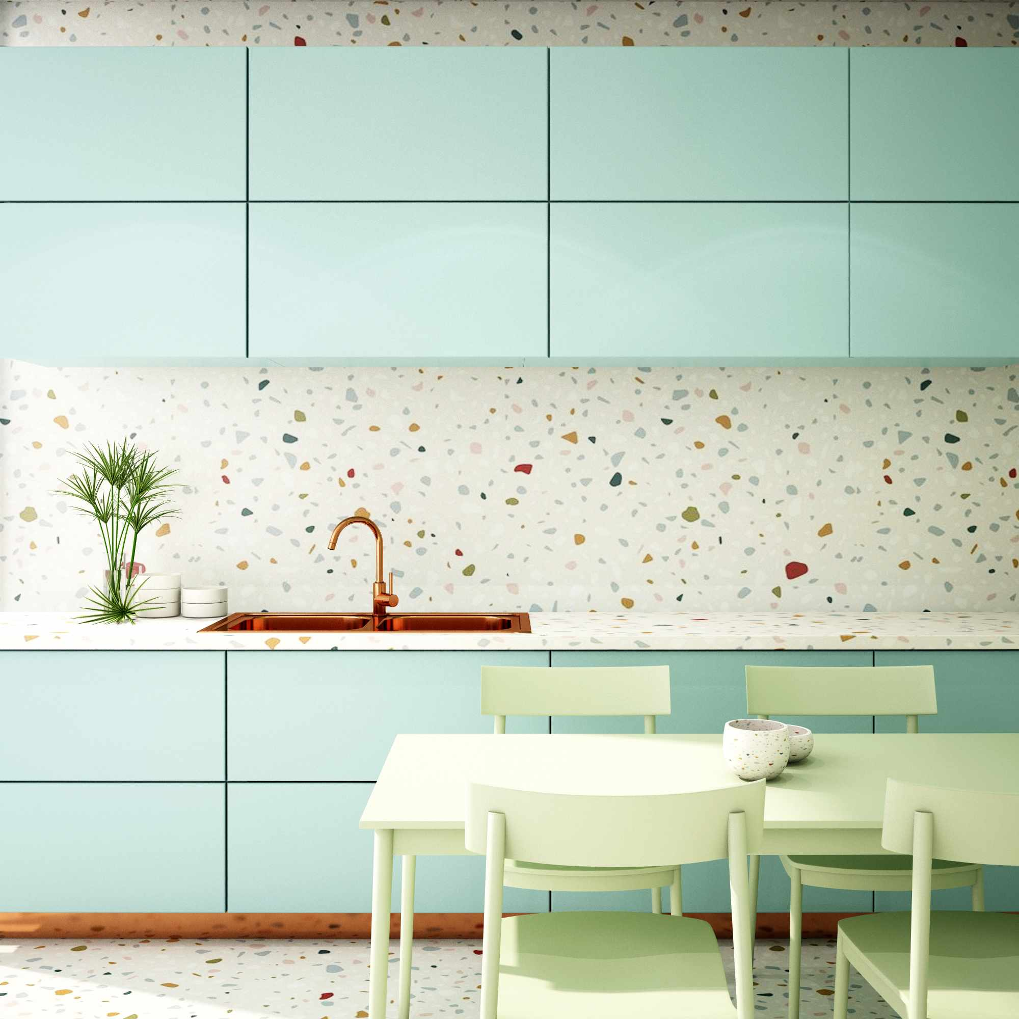 Terrazzo kitchen backsplash