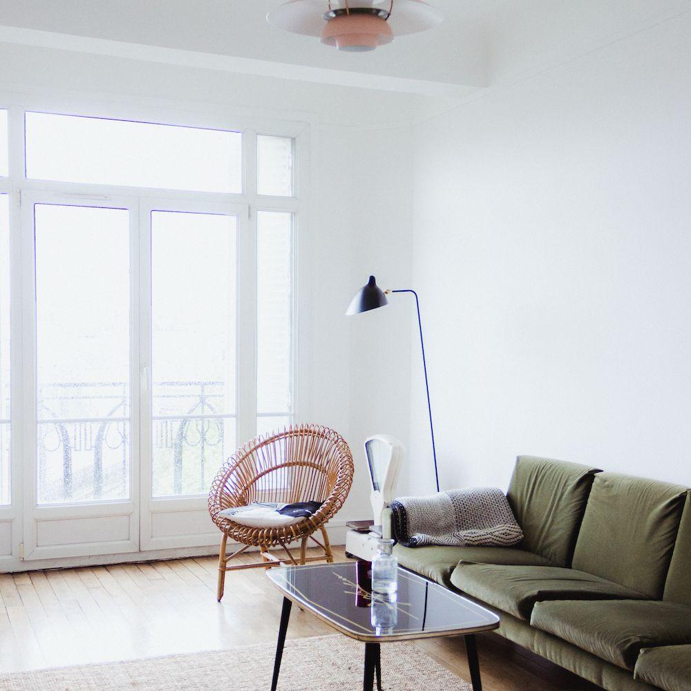 Mid-century inspired Paris living room.