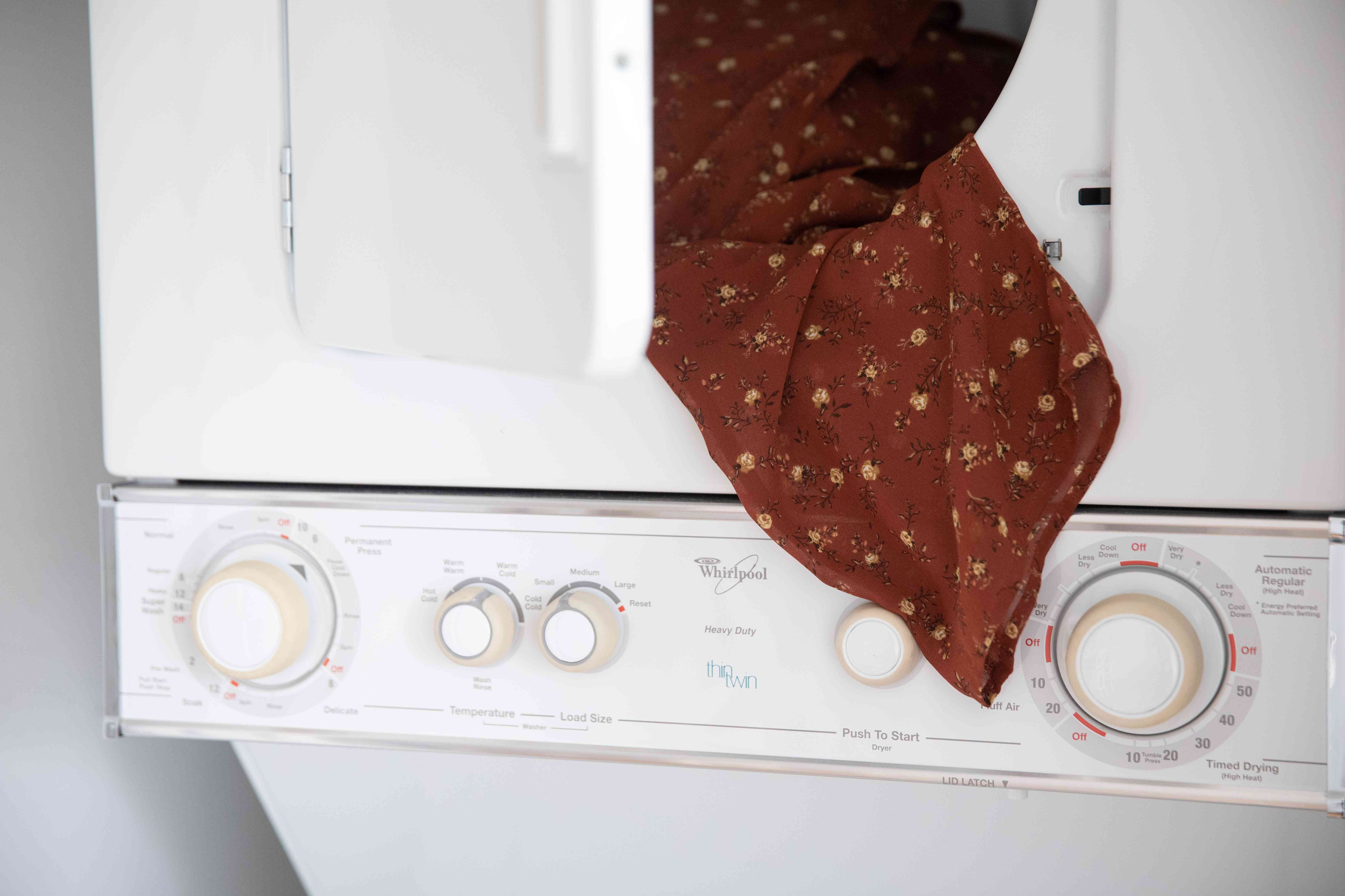 A polyester top in the dryer