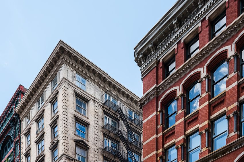 Two buildings in Soho Cast Iron historic District in New York City