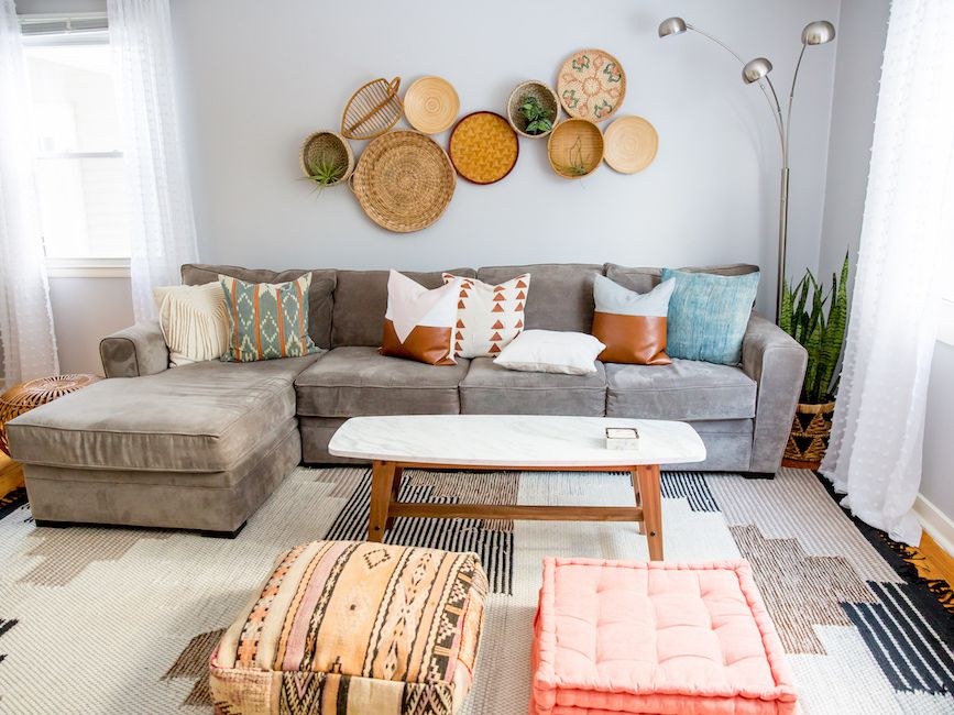 red sofa set and turquoise wall color for incredible.htm how to mix and match throw pillows like a pro  how to mix and match throw pillows like