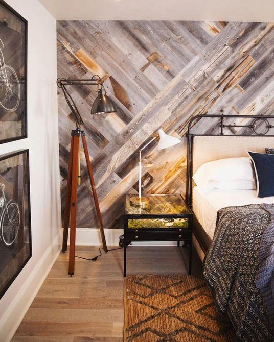 diseño de pared de madera