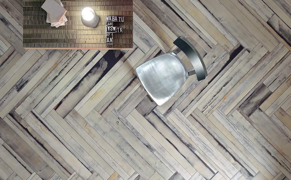 piso de madera de espiga