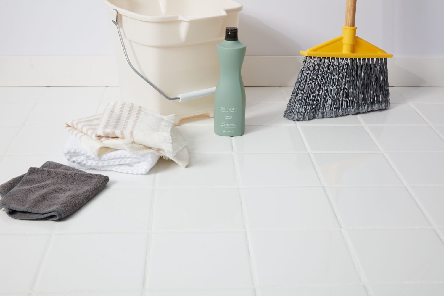 Ceramic tile cleaning supplies