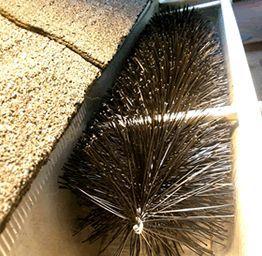 Gutter Brush installed in a gutter