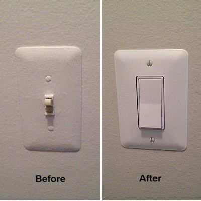 Rocker Light Switch >> Replacing A Toggle Light Switch With A Rocker Switch