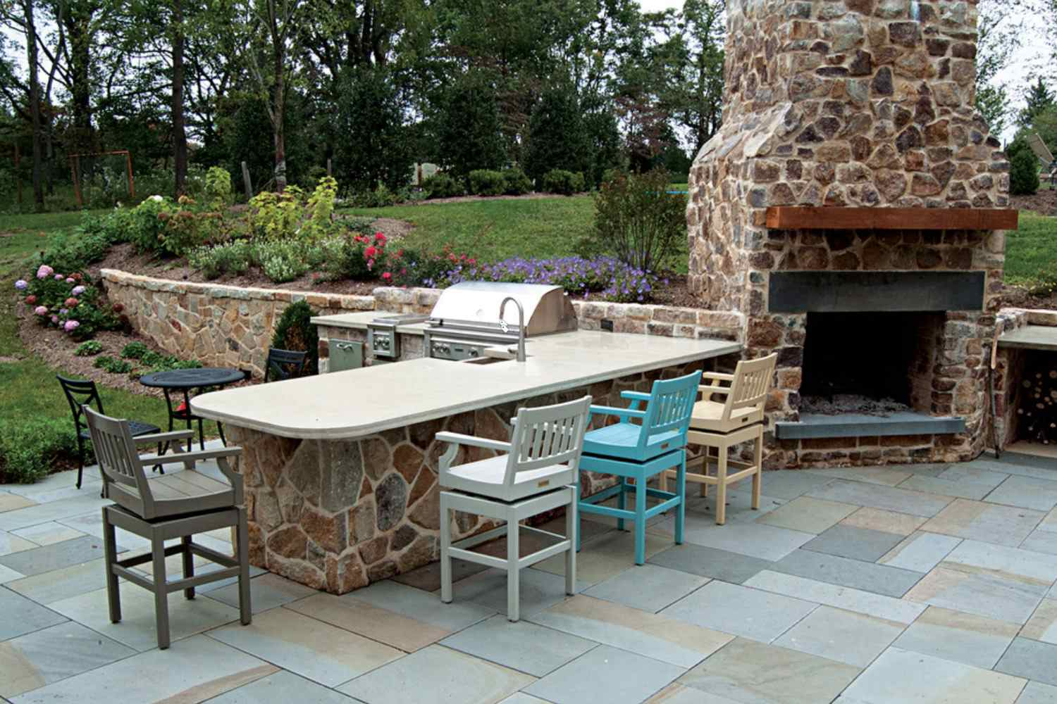 patio with built in bbq