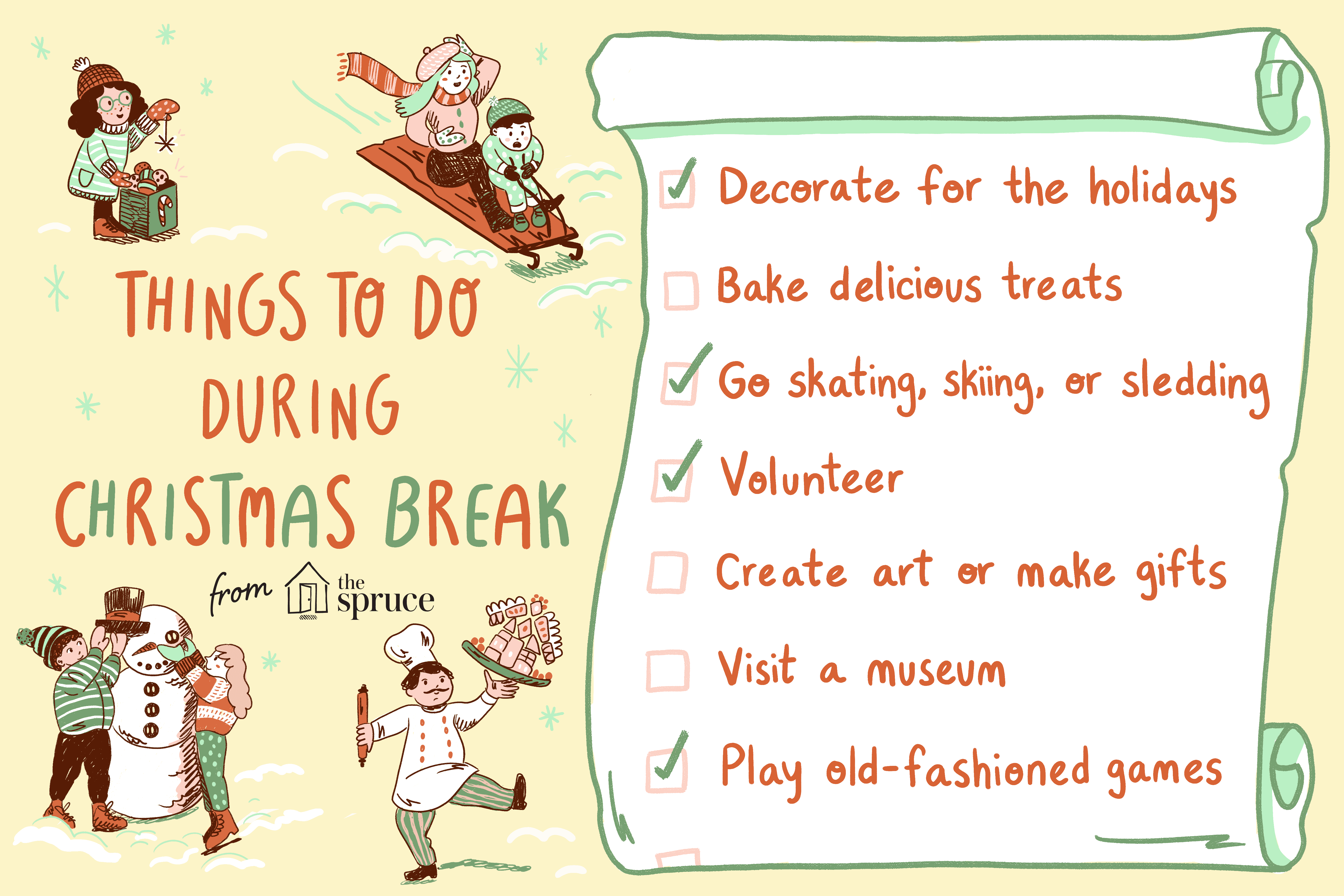 Christmas Break Things to Do - Holiday Activities and Ideas