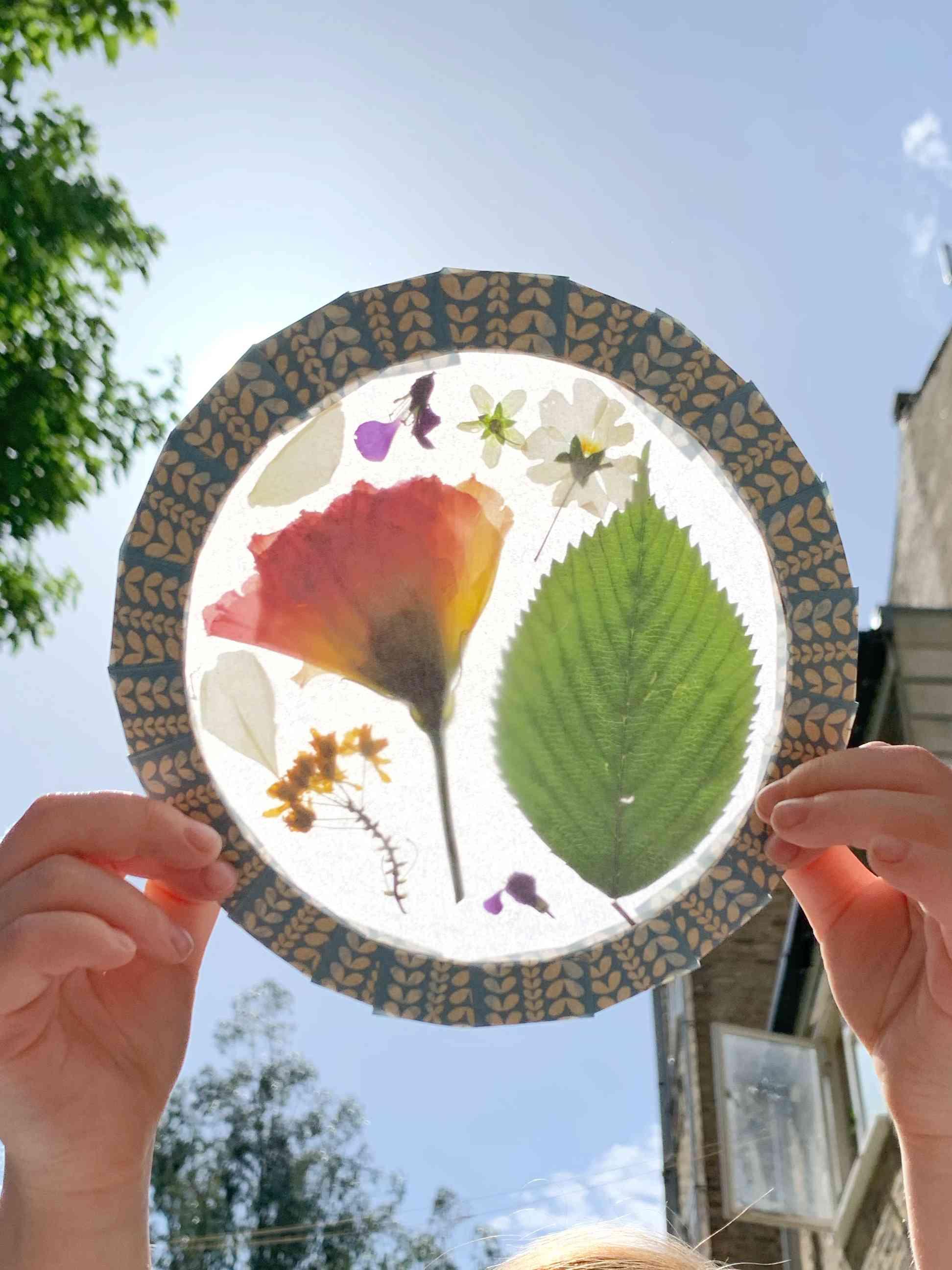 dried flower light catcher