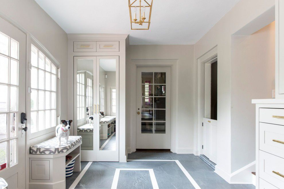 high end mudroom in luxury home