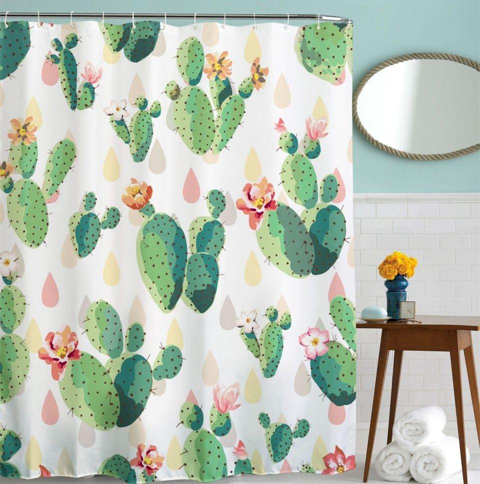 cactus-shower-curtain