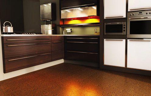 pisos de cocina marrón oscuro