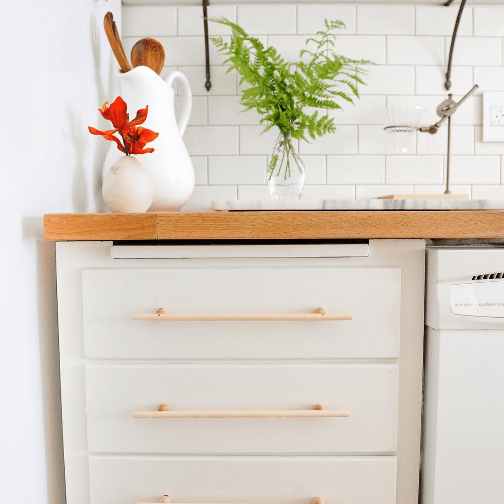 Manijas de madera para gabinetes de bricolaje