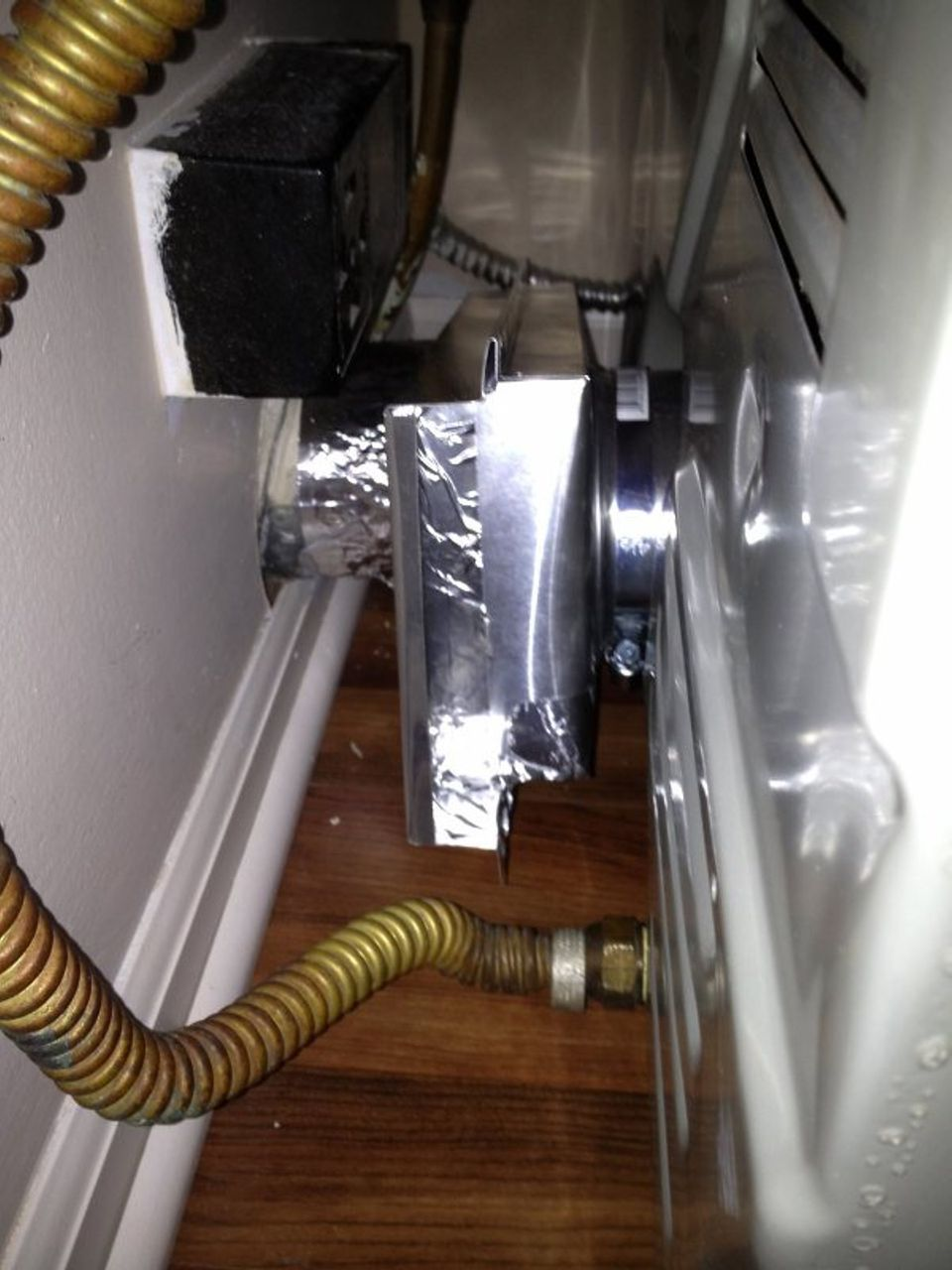 Installation Of A Dryer Vent In A Tight Space