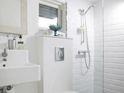 Bathroom with exhaust fan
