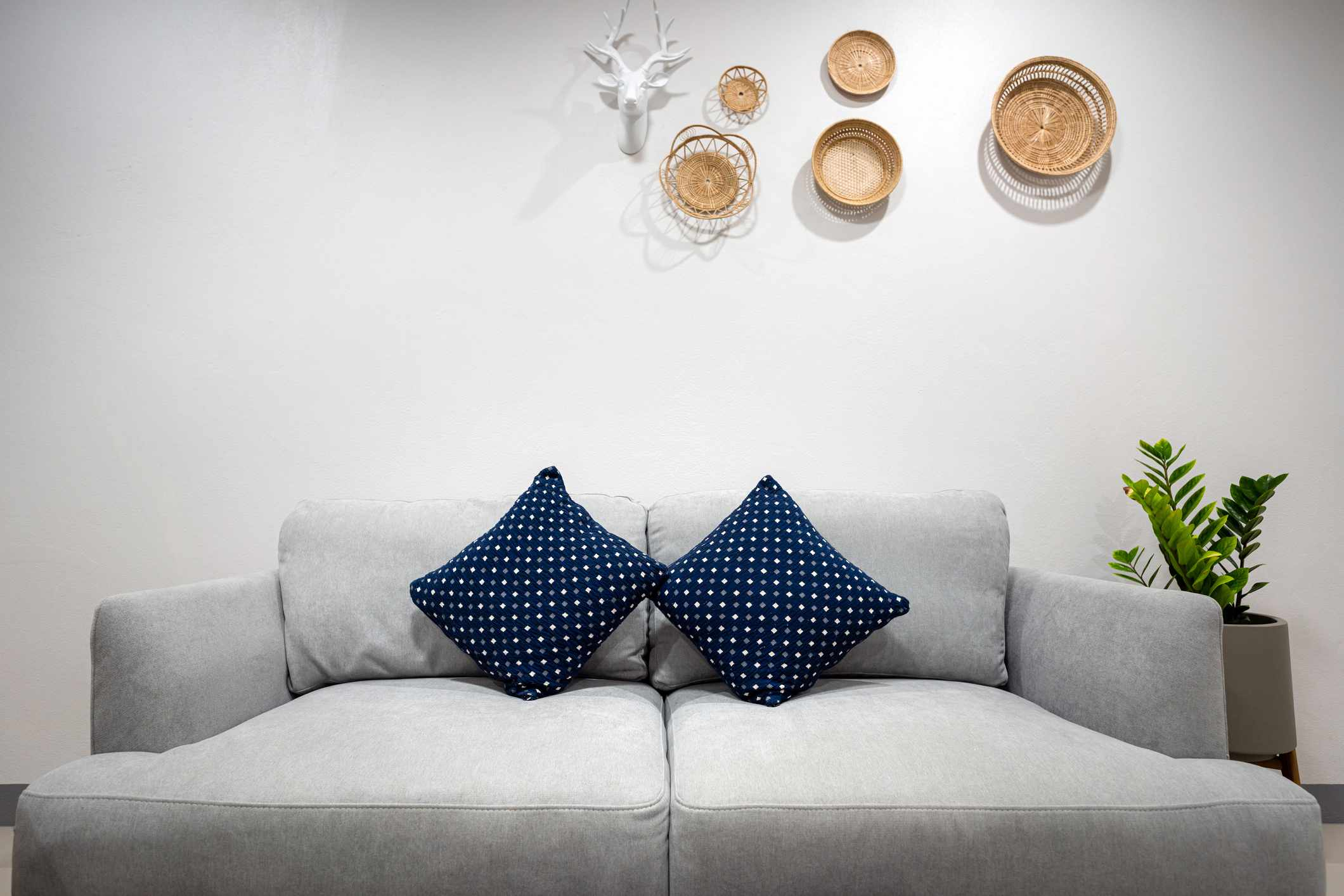 A sofa bed in a living room