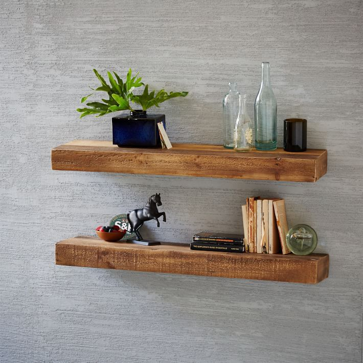 Best Rustic Shelves Reclaimed Wood Floating Shelf