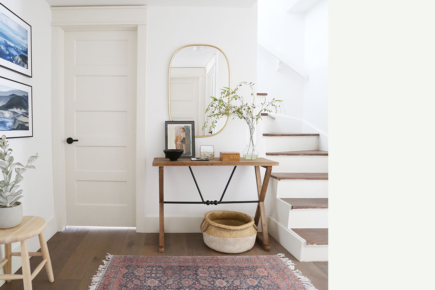 Interior painted a similar color to Benjamin Moore's Chantilly Lace