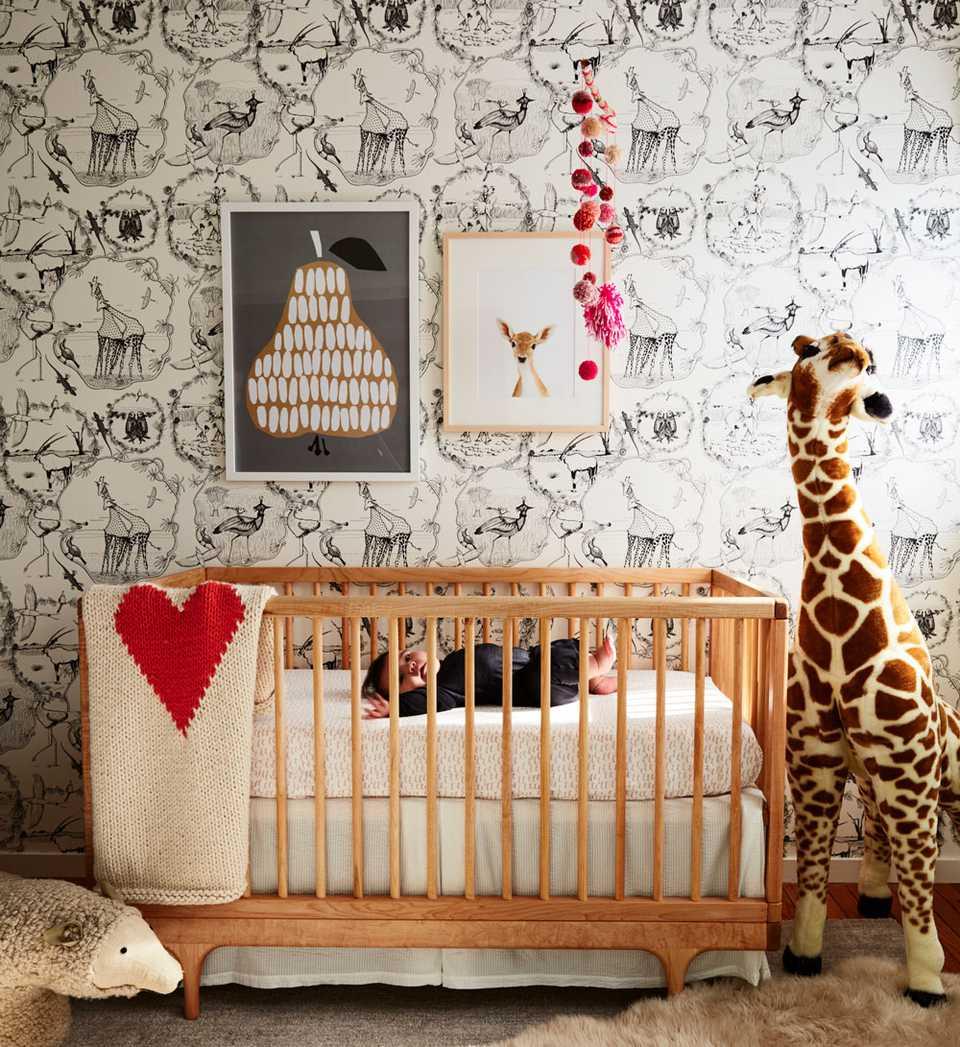Modern, animal-themed nursery