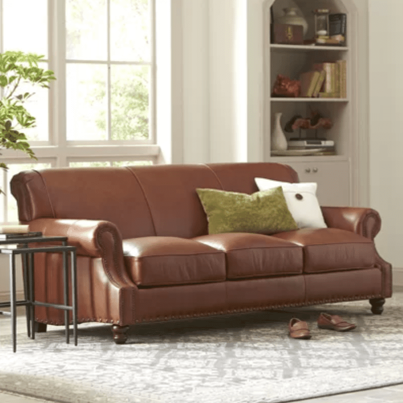 Best Overall Birch Lane S Landry Leather Sofa