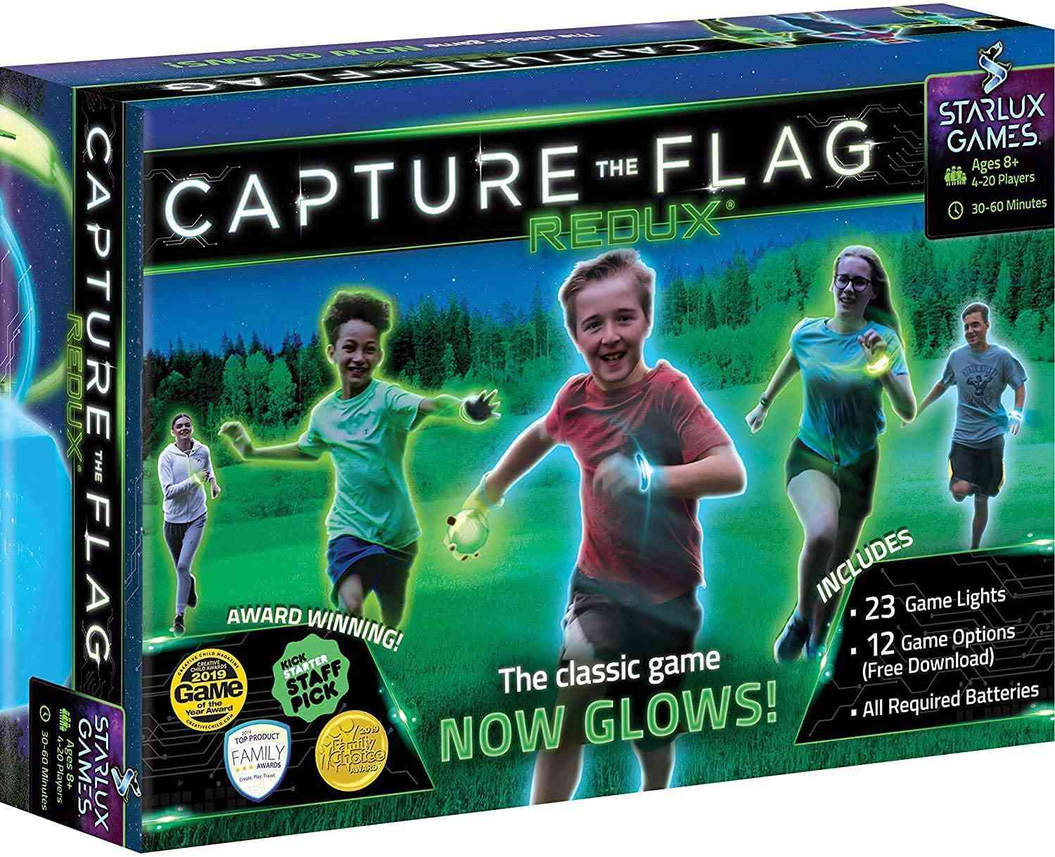 Starlux Games Capture the Flag REDUX: The Original Glow-in-The-Dark Outdoor Game