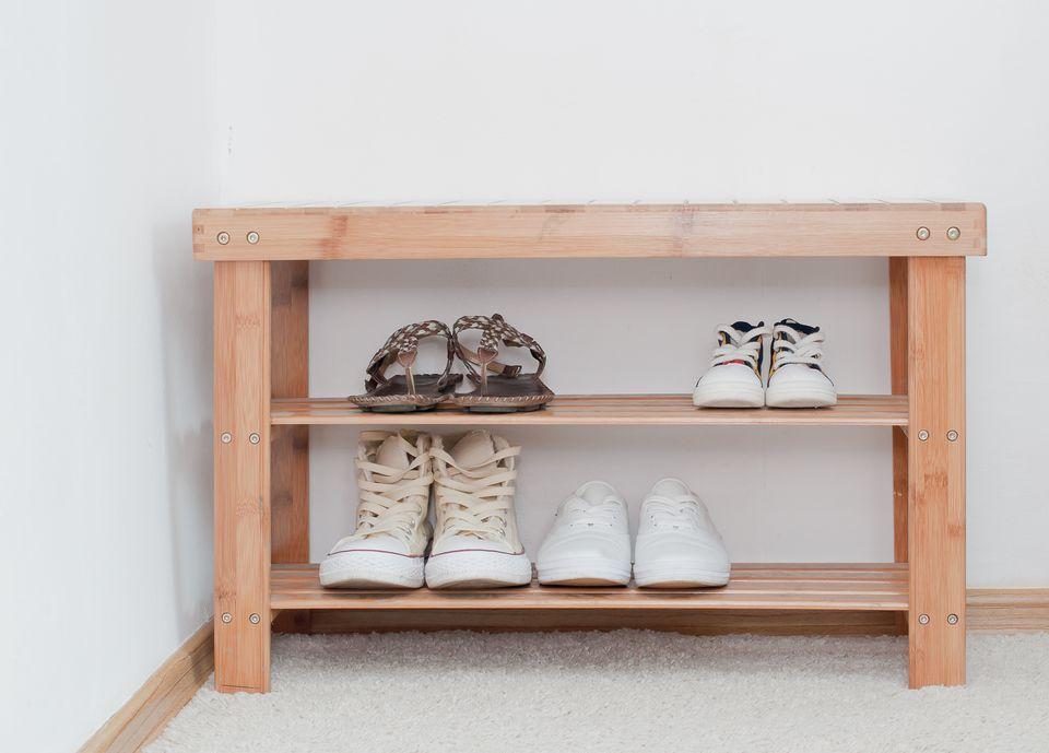 Banco de zapatos