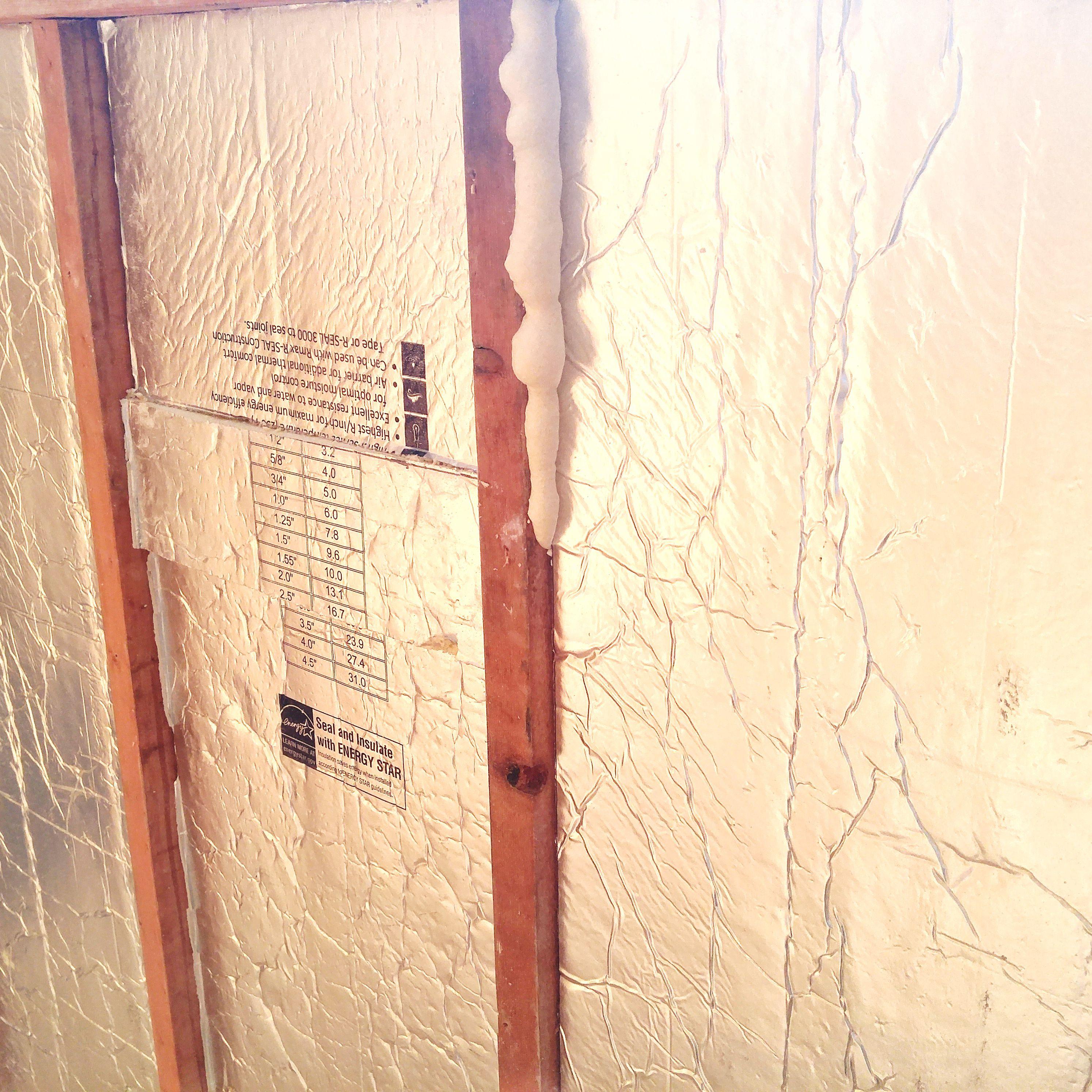 Rigid Foam Board Insulation Between Studs
