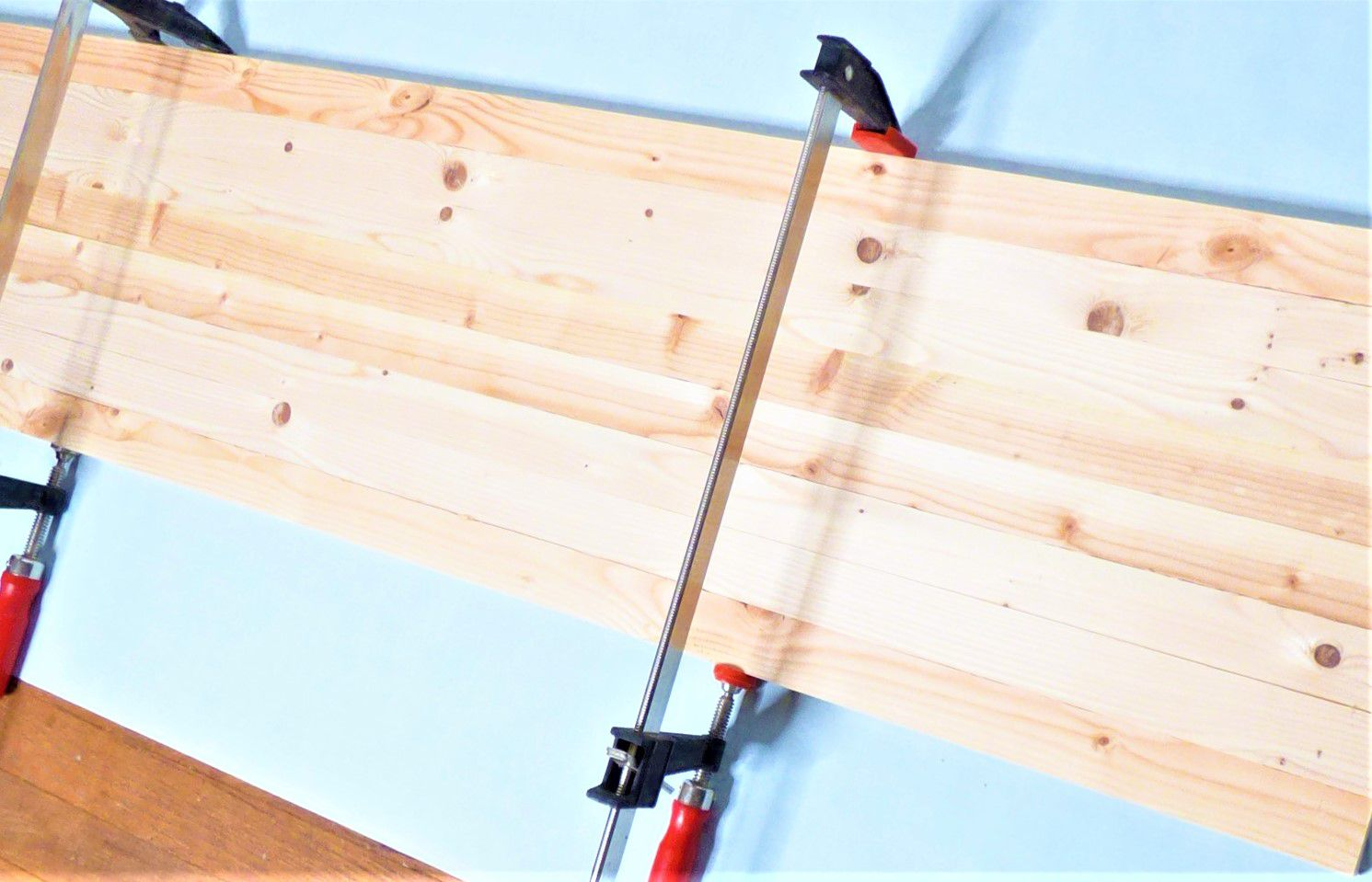 Clamp the Table Top Boards
