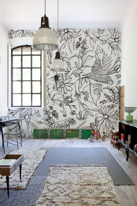 16 Nurseries With DIY Sharpie Art Walls