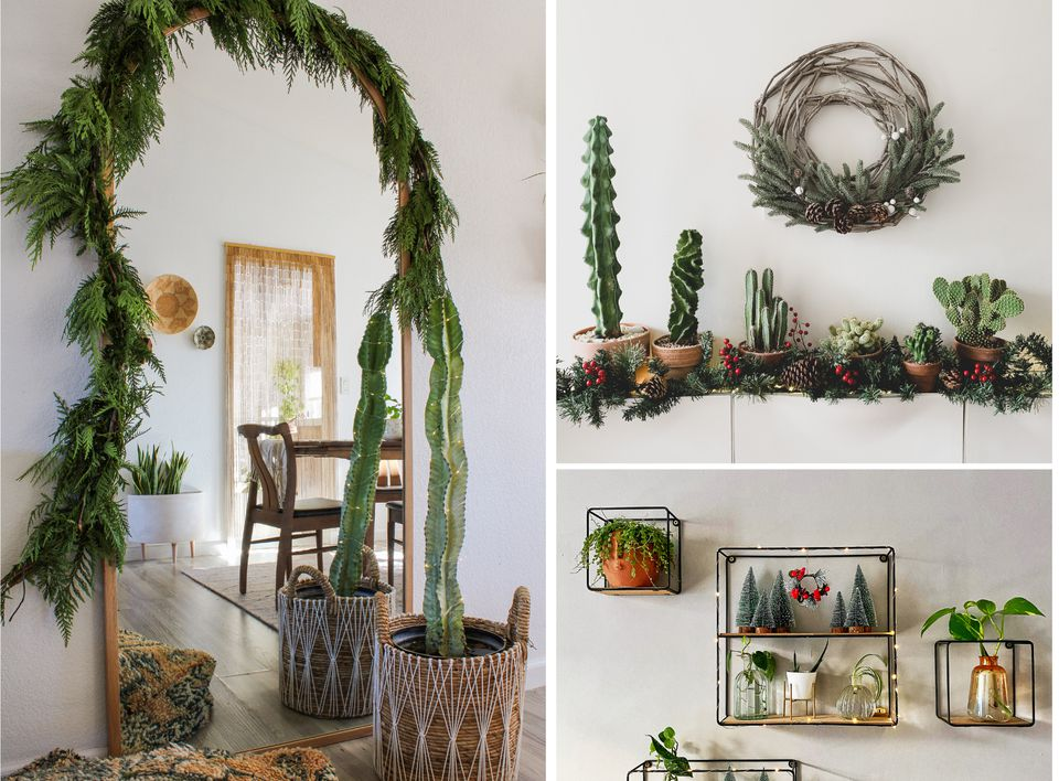 plant-focused christmas decor