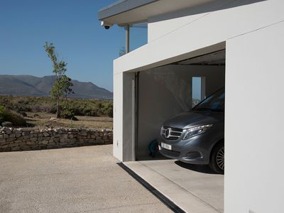Exterior of modern car garage