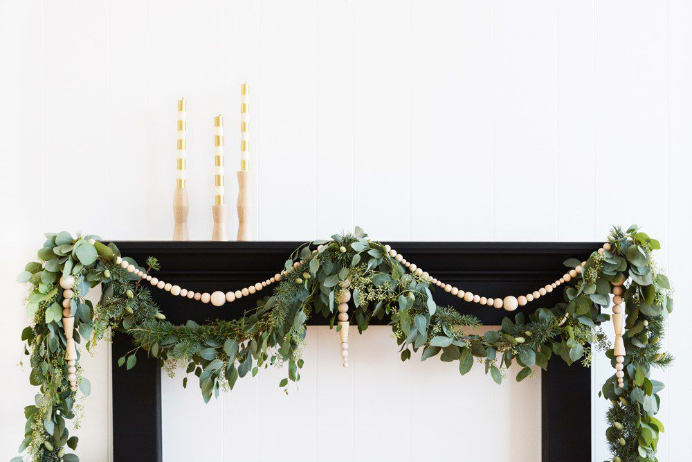 beaded garland for mantle
