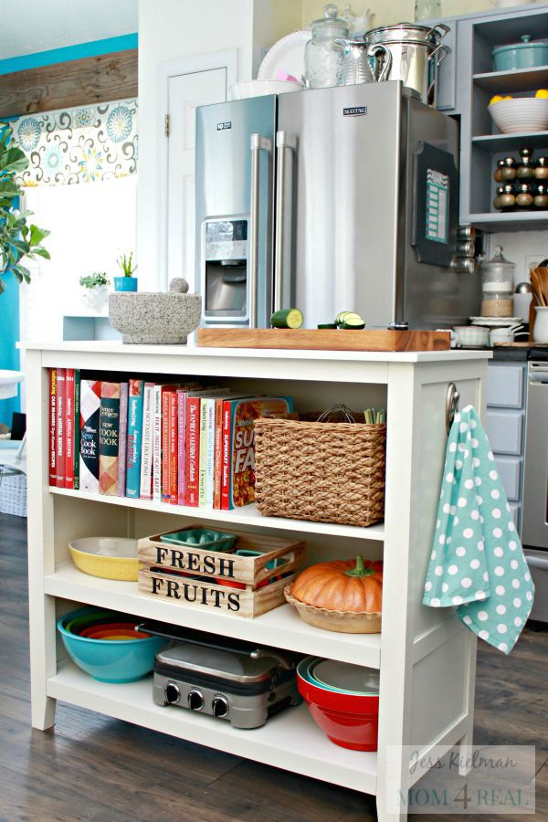 Lovely 10 Stylish Ways to Display Cookbooks in the Kitchen GA04