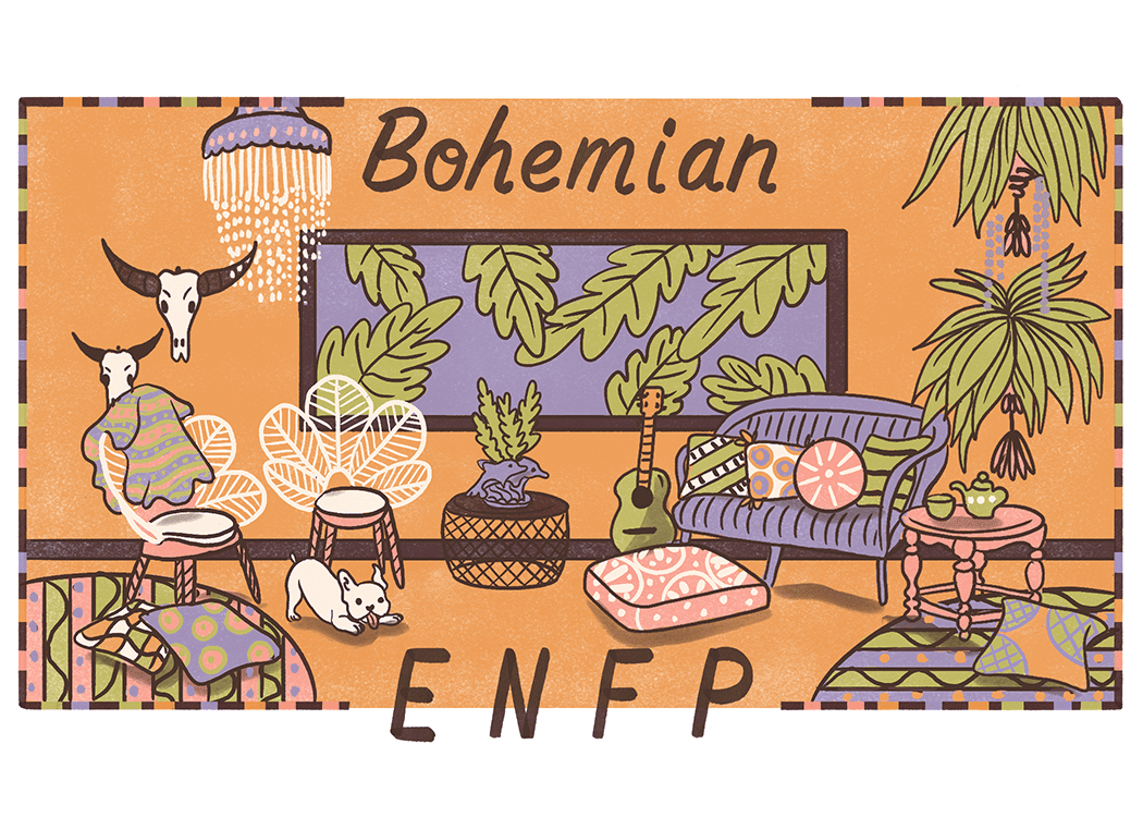 An illustration of the ideal home for an ENFP