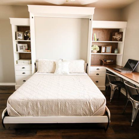 11 Money Saving Diy Murphy Bed Projects, Twin Size Deluxe Murphy Bed Hardware Kit Horizontal