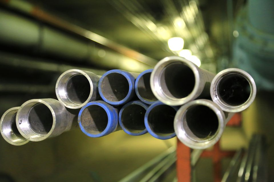 Variety of conduit pipes on a construction site