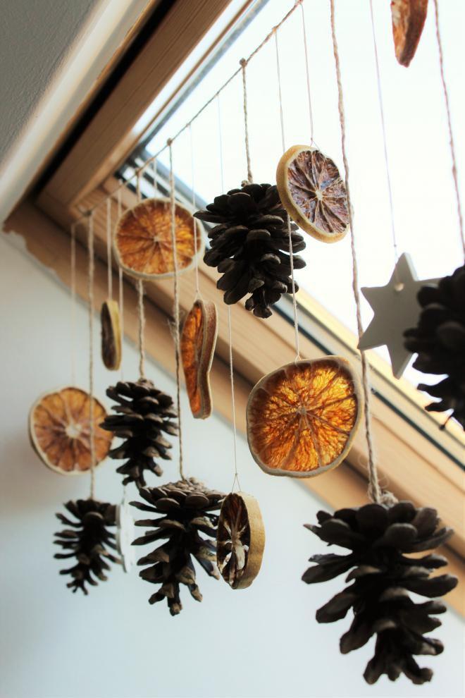 Dried orange hanging