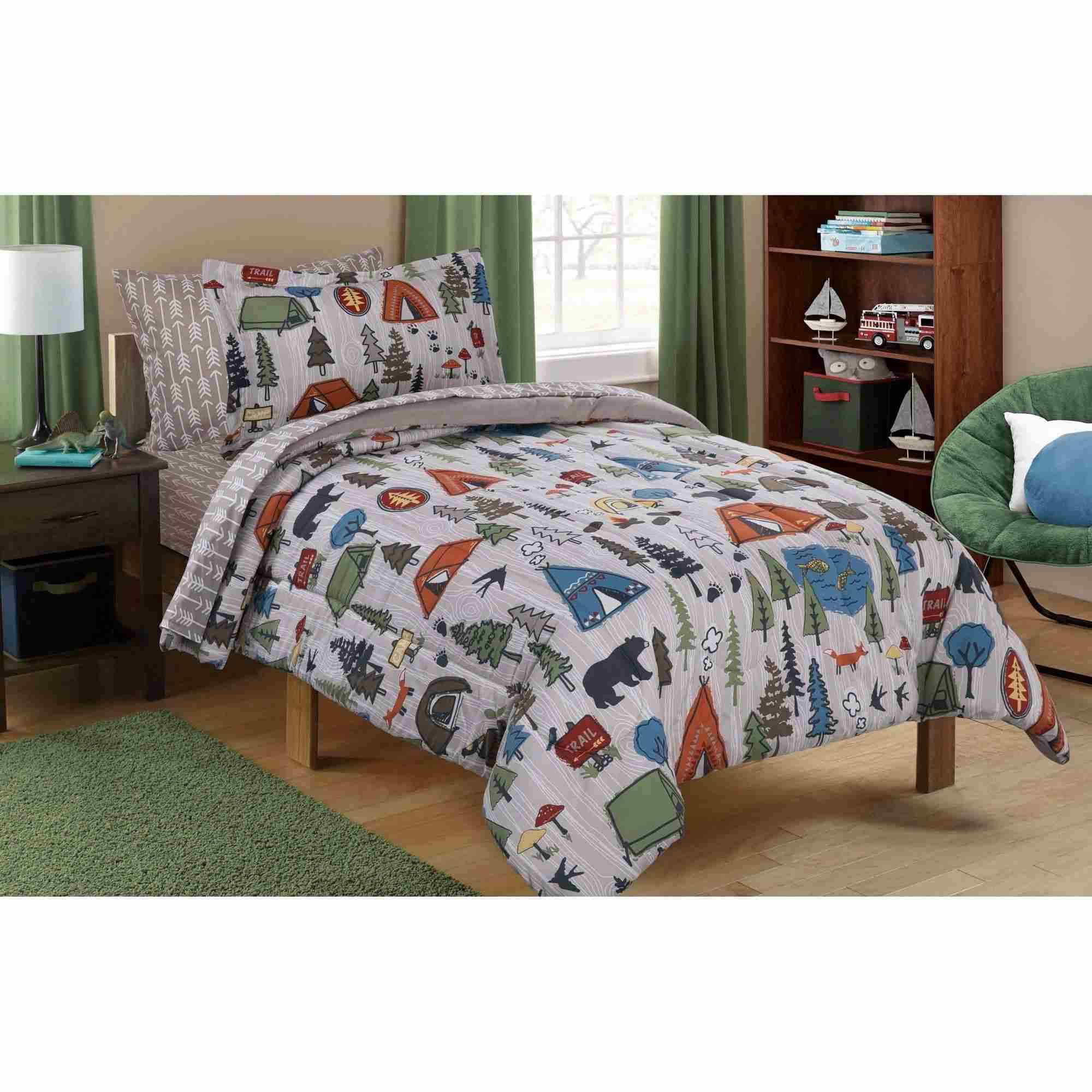 Mainstays Kids Camping Bed in a Bag Bedding Set