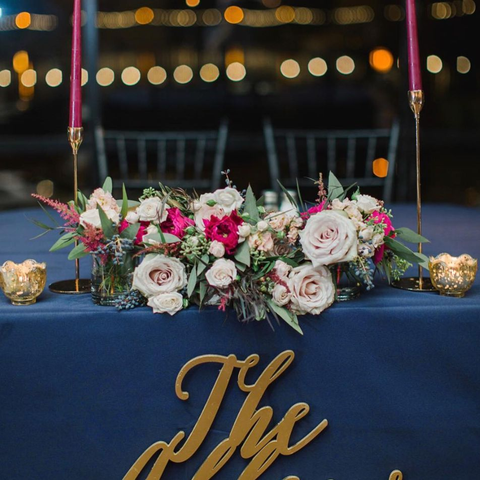 wedding sign that says 'the allens'
