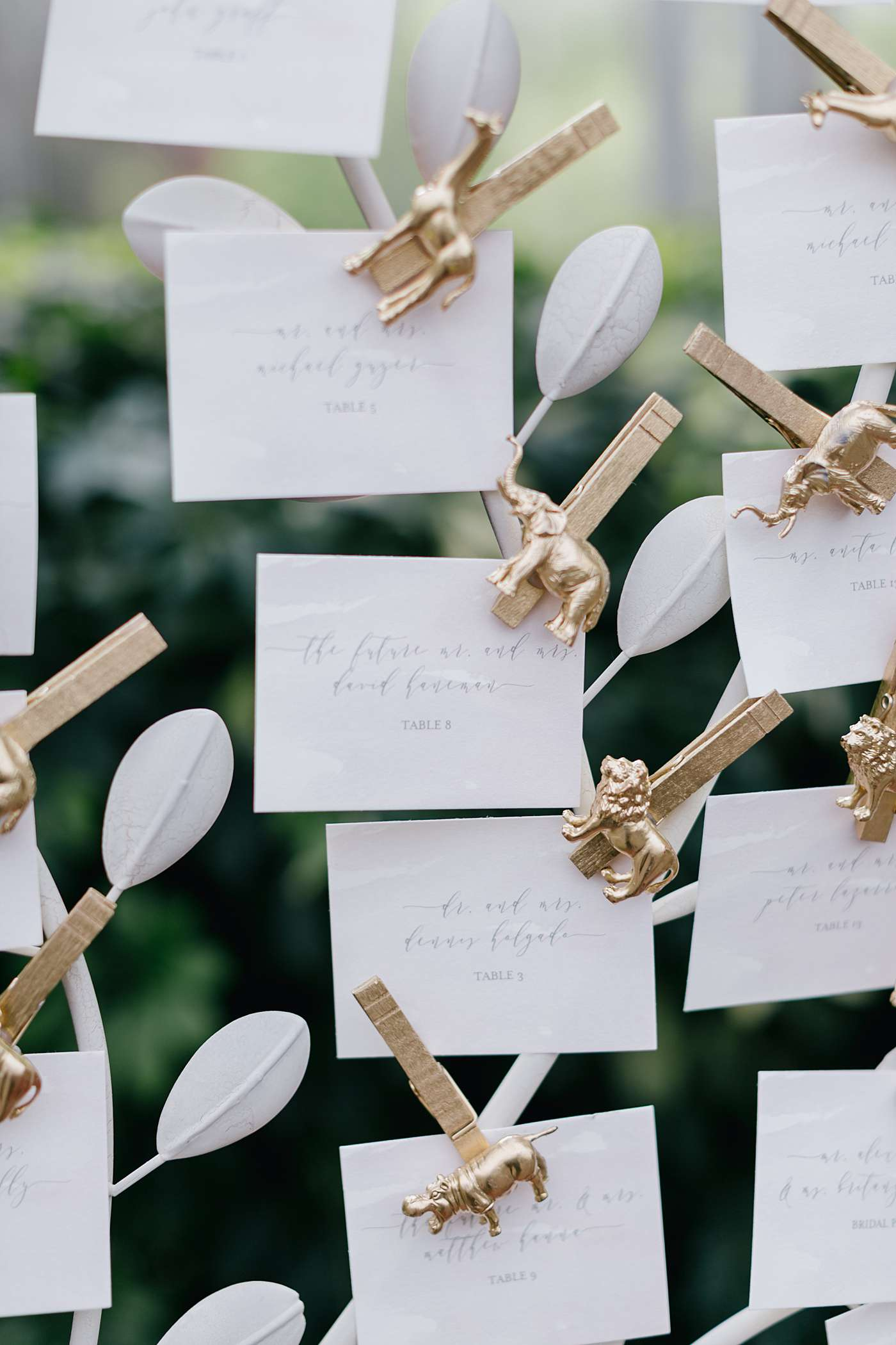 15 Ideas For Wedding Escort Card Displays