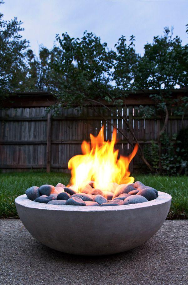 DIY Outdoor Concrete Fire Pit