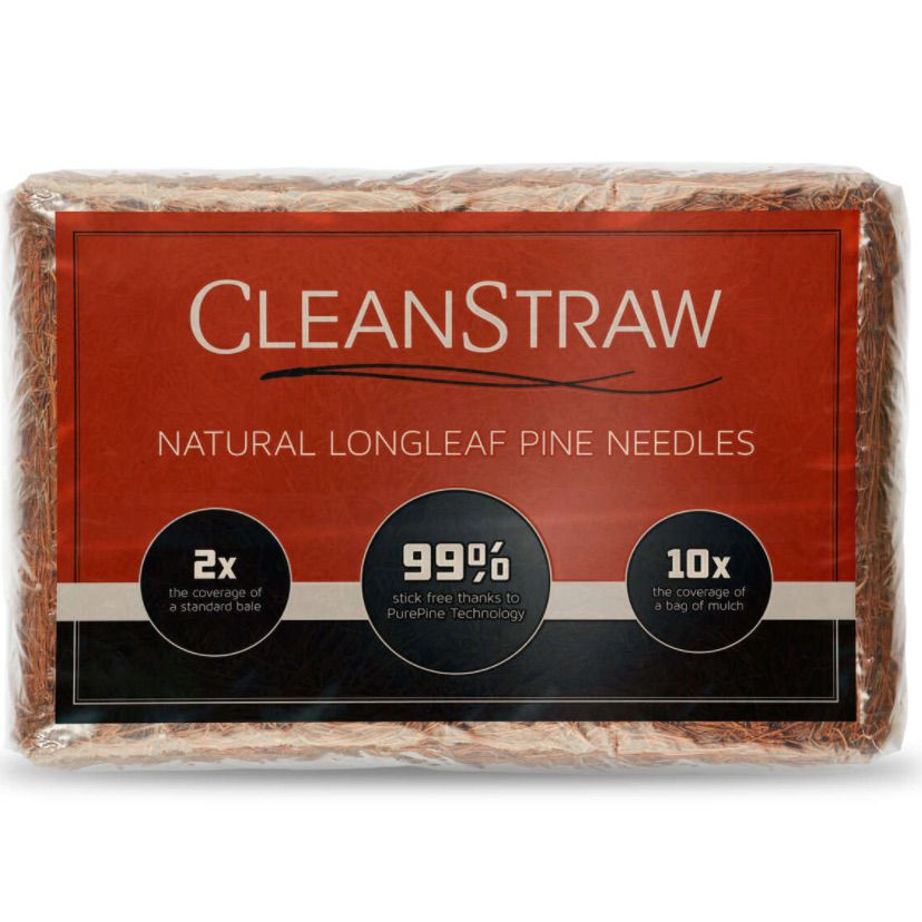CleanStraw Long Leaf Pine Straw