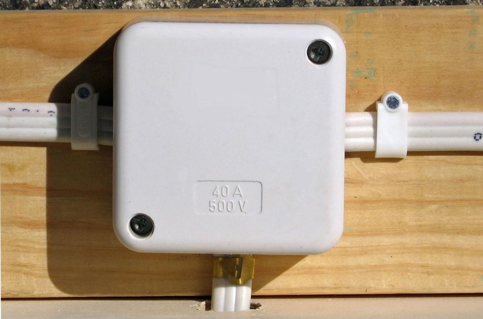 A surface mounted wiring setup