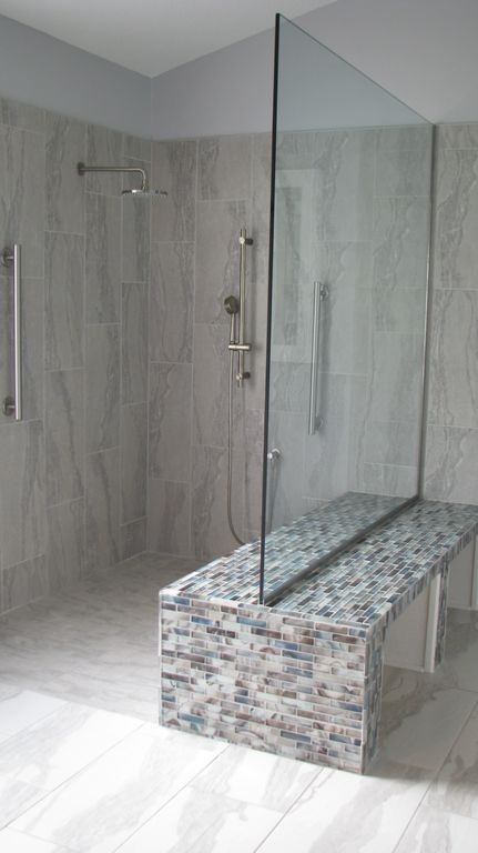 Double Benched Walk In Shower Without Door