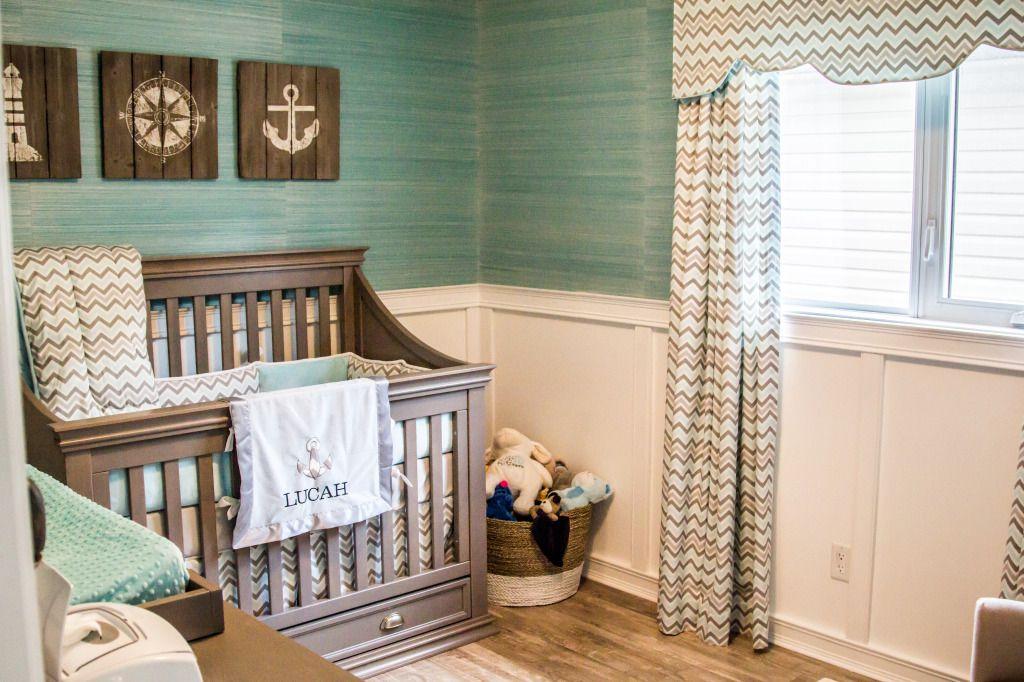 Turquoise nautical nursery
