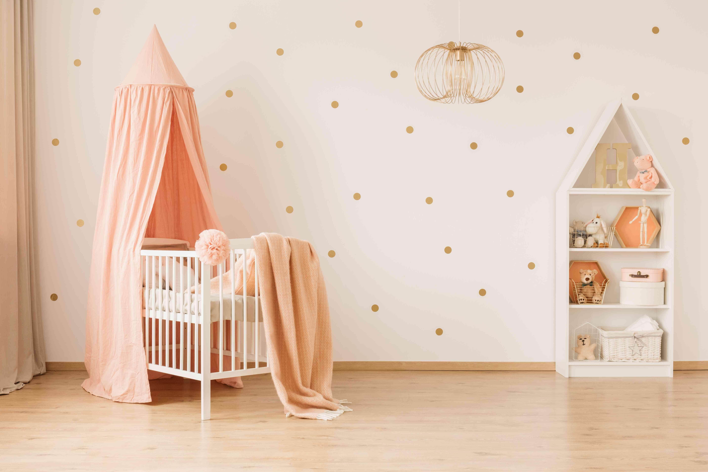 Spacious baby's bedroom interior