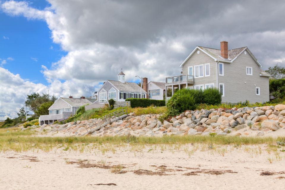Luxury New England Waterfront Houses, Chatham, Cape Cod, Massachusetts, USA.